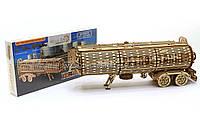 Деревянный конструктор Wood Trick Прицеп цистерна.Техника сборки - 3d пазл