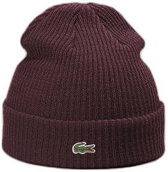 Теплая шапка Lacoste (ориг.бирка) коричневый