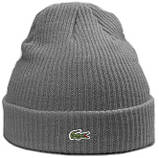 Теплая шапка Lacoste (ориг.бирка) коричневый, фото 6