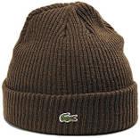 Теплая шапка Lacoste (ориг.бирка) коричневый, фото 4