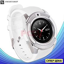 Умные часы Smart Watch V8 сенсорные - смарт часы Белые (s94), фото 3