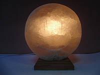 Соляная лампа круглая плоская