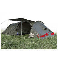 Палатка трехместная с тамбуром MIL-TEC Olive, 14226000