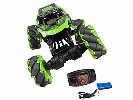 Светящаяся трюковая машинка-багги на пульте управления 2.4 ГГц Stunt Climbing Car (SL-193A) зеленая