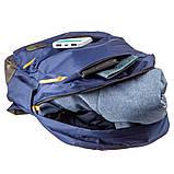 Рюкзак нейлоновый Vintage 14821 Синий, Синий, фото 3