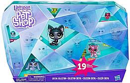Лител пет шоп Мега набор Эксклюзивная коллекция Кристалл Оригинал Hasbro Littlest Pet Shop Crystal Collection