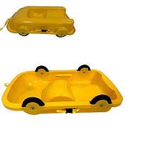Санки 2 в 1 Doloni Toys Желтые (bc-fl-1006)