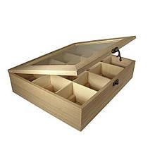 Ящик для зберігання Rayher з 12 відділеннями, дерев'яна скриня для зберігання