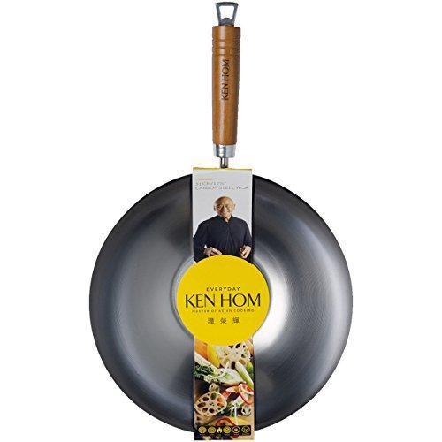 Сковорідка Ken Hom Everyday Range Wok, вуглецева сталь, срібло, 31 см