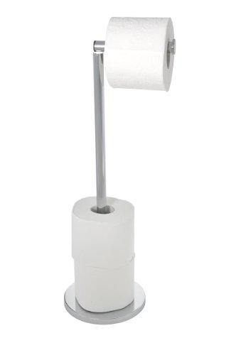 Окремо стоїть тримач для туалетного паперу 2 в 1 WENKO 19637100, нержавіюча сталь, 17 X 21 X 55 см,
