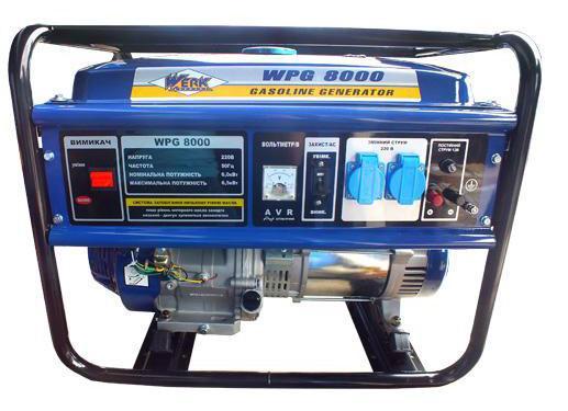 Електрогенератор бензииновый 6.5 кВт., ручний старт, Werk WPG8000 (43238)