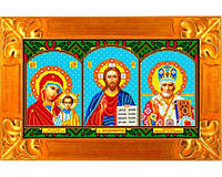 Схема для вышивки на габардине «Икона - Триптих»