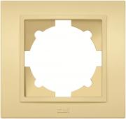 Рамка ABB El-bi Zena трехместная универсальная светло-желтая матовая, Турция