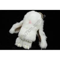 """Оригинальный меховой брелок """"Кролик"""" брелок для ключей и рюкзаков белого цвета"""