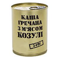 Тушенка из косули с гречневой кашей, консерва (340г), ж/б