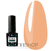 Гель-лак Kira Nails №114 - горчично-коричневый, 6 мл