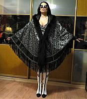 Кожаное двустороннее женское манто с мехом песца.Размер универсальный 48-66. Производство Турция