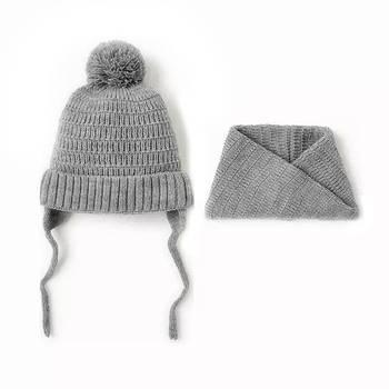 Детский комплект шапка и снуд Berni Серый (52445)