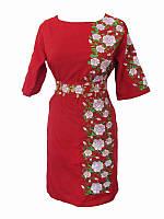 Платье с вышивкой Пламенная страсть (Платья с вышивкой в украинском стиле)