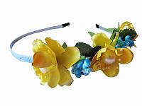 Обруч Весенний цвет желтый (Украинские венки, обручи, заколки)