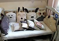 Бортики для детской кроватки (состав в описании), фото 1