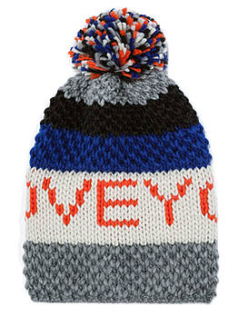 Зимняя шапка для девочки с помпоном Berni Разноцветная (52459)