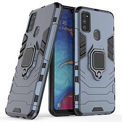 Чехол для Samsung Galaxy M30s, Transformer Ring, под магнитный держатель, ударопрочный