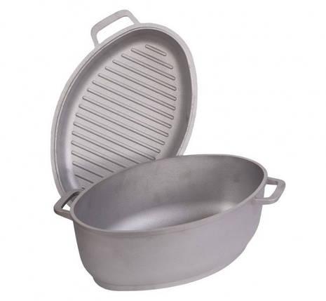Гусятница БИОЛ Г601 с крышкой-сковородой (гриль) 6 л , фото 2