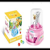 Детский конструктор игрушка Кран ловец шариков и конфет D Jin Shaung Lu Розовый (2098-DM)