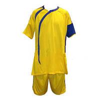 Форма футбольная без номера CO-3047-Y (р-р M-XXL, желто-синий)