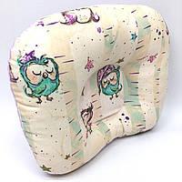 Подушка ортопедическая для новорожденных Sindbaby из ткани Совята (01-ППО-02)