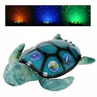 Детский ночник проектор Черепаха Мягкая игрушка METR+ Разноцветный (XC-3-RT)