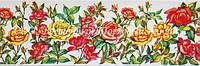 Декоративная бордюрная лента — Розы - Н40 мм - 500 м