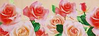 Декоративная бордюрная лента — Розы большие светлые - Н40 мм - 500 м