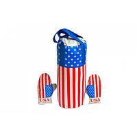 Детский боксерский набор Danko Toys (груша навесная с перчатками для детей) Америка (0003DT-RT)