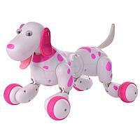Собачка робот игрушка на р/у Happy Smart Dog Интерактивная поет, лает, танцует, выполняет трюки Pink (HC-777-338P-RT)