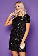 Короткое черное платье Ираида S, M, L, XL