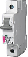 Автоматический выключатель ETIMAT 6 1p C 10А (6kA), ETI, 2141514