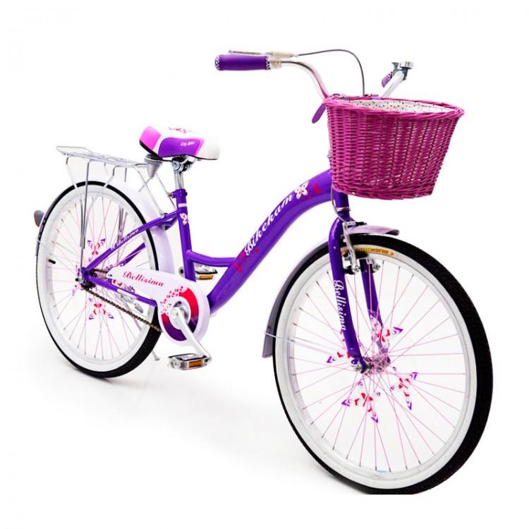 """Детский Велосипед с корзинкой 24 """"BELLISIMA"""""""