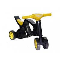 Перший дитячий велосипед беговел Doloni 55 х 45 х 31 см Black Yellow (0136/03-RT)