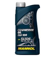 Компрессорное минеральное масло Mannol Compressor Oil ISO 100 1л.