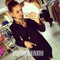 Пальто женское  CHANEL черное , купить пальто женское