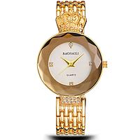 Женские часы наручные водонепроницаемые Baosaili Original Сапфир Gold-White (1117-0003G-AB)