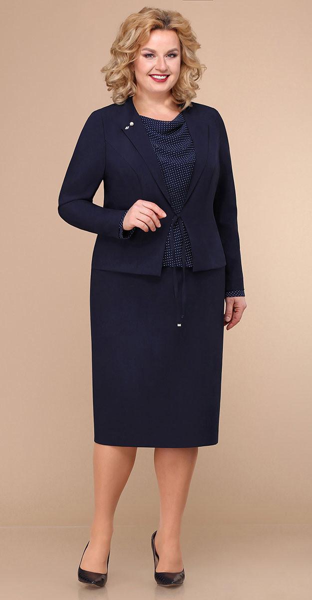 Сукня Лінія-Л-Б-1775 білоруський трикотаж, темно-синій, 54