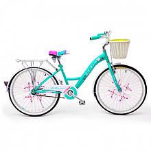 """Детский Велосипед с корзинкой 24 """"BELLISIMA"""" Зеленый"""