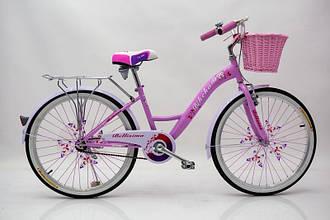 """Детский Велосипед с корзинкой 24 """"BELLISIMA"""" Розовый"""