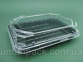 Упаковка для суші ПС-63ДЧ 16,8*11,5 разом з кышкой ПС63К (50 шт)