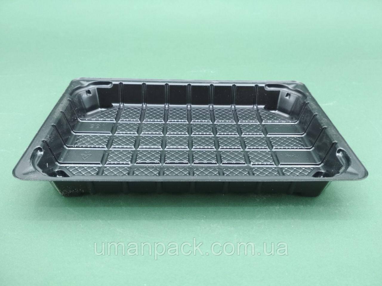Упаковка пластиковая под суши SL331ВL 184*129*22 (50 шт)