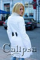 Пальто Белое с черным бантом