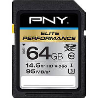 Карта памяти PNY Technologies 64GB Elite Performance UHS-1 (U3, Class 10)